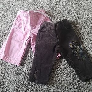 Other - 2 pairs of baby girl pants